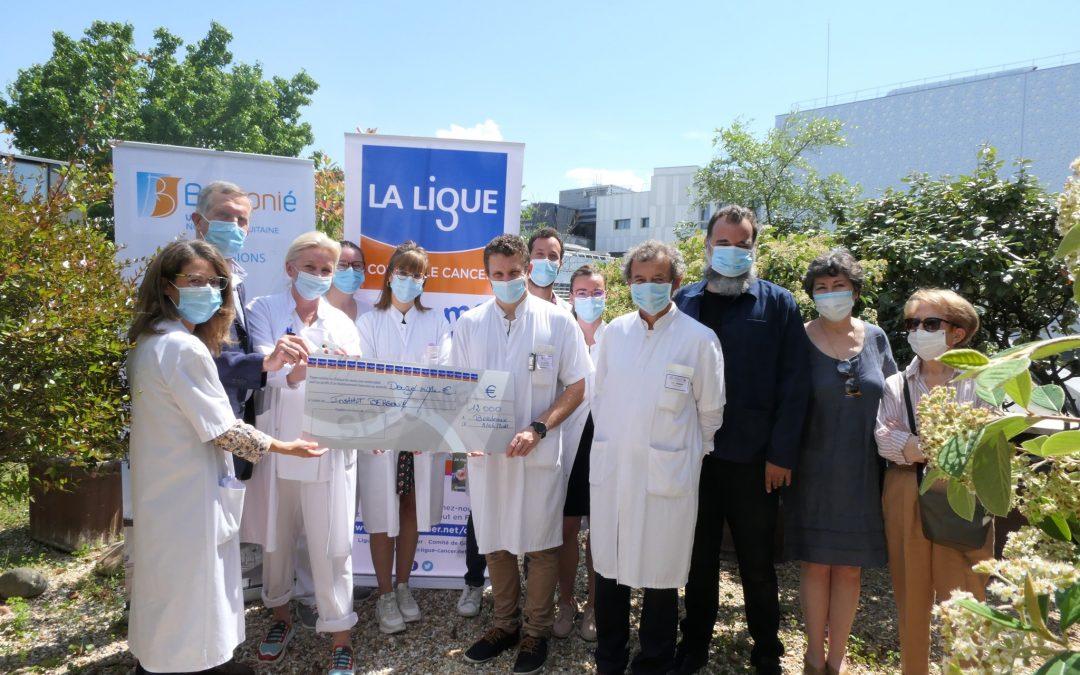 La Ligue contre le cancer Gironde remet 12 000 euros à l'unité de curiethérapie de l'Institut Bergonié