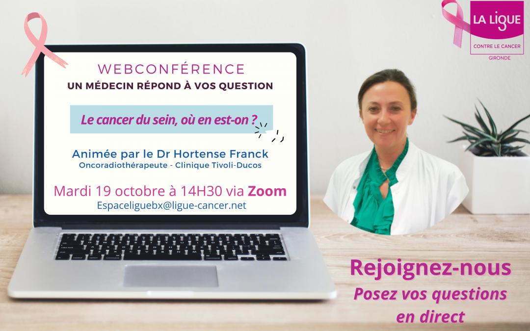 Inscrivez-vous à la webconférence «Un médecin à répond à vos questions»